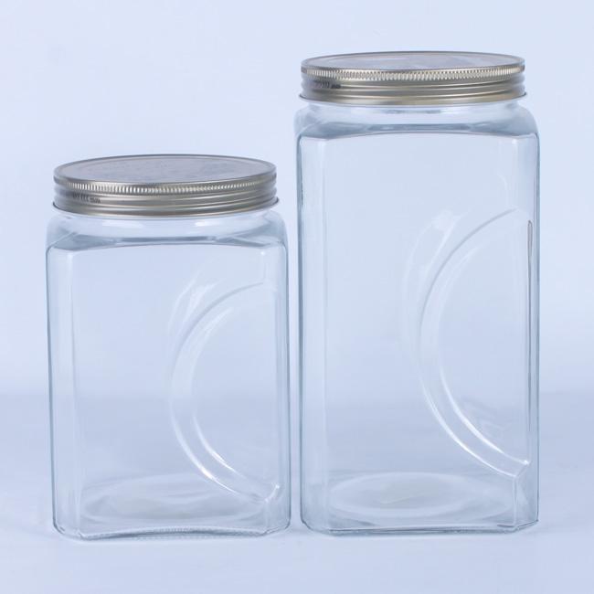 Square Glass Storage Jar ...