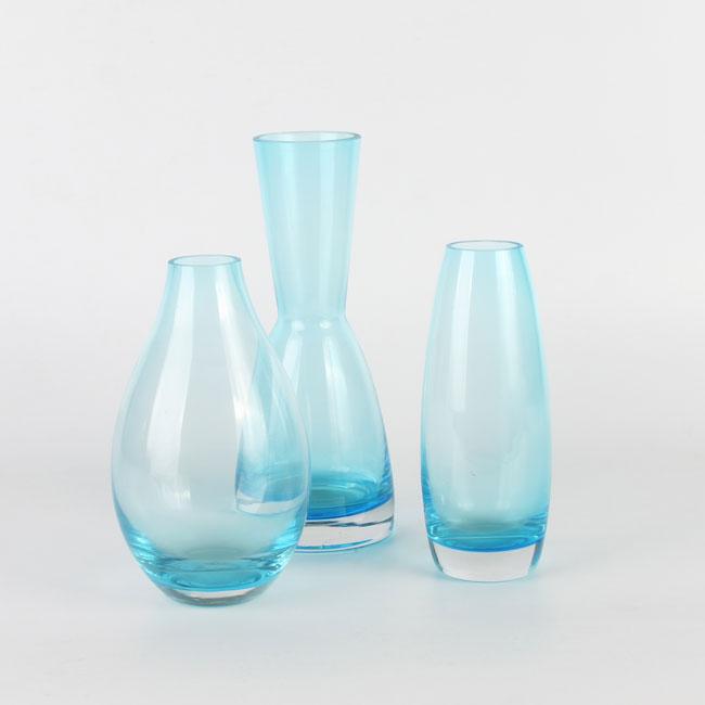Light Blue Round Glass Vase Centerpieces Wholesale Supplier Zhaohaichina