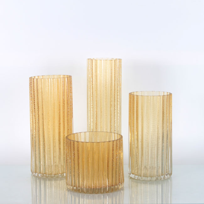 Orange Cylinder Glass Flower Vase Bathroom Decor Vases Zhaohaichina