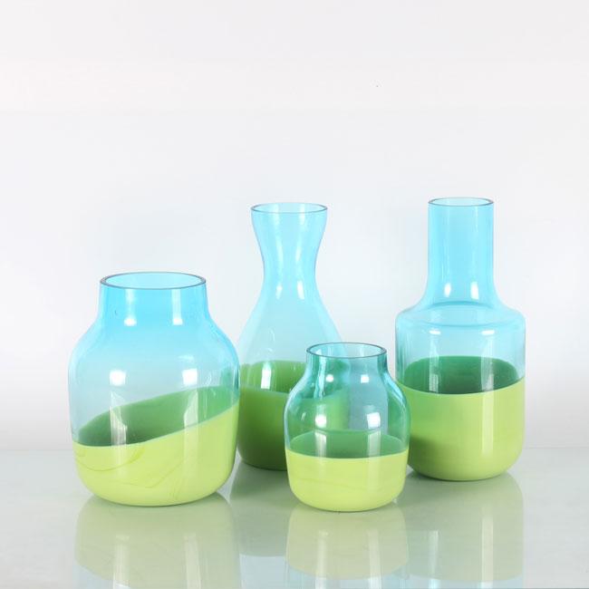 Light Blue Glass Flower Vases Beautiful Vases For Sale Zhaohaichina